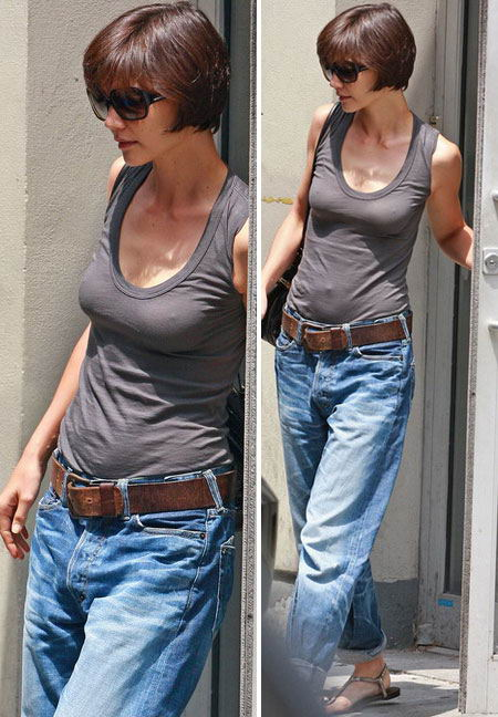 Katie Holmes Ditches Skinny Jeans For Boyfriend Jeans