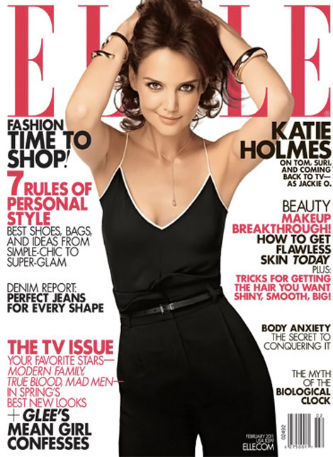 Katie Holmes Does Elle February 2011