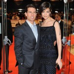Katie Holmes Escada dress Valkyrie premiere London Tom Cruise