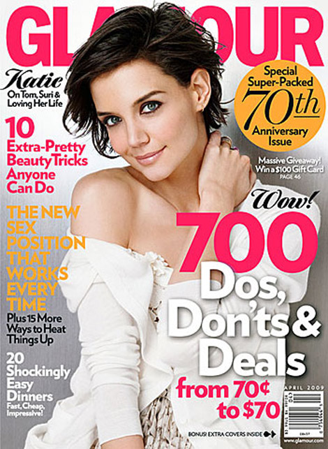 katie holmes glamour april 2009 cover