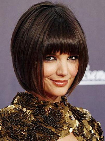 bob hairstyles for oval face. Katie Holmes Haircut