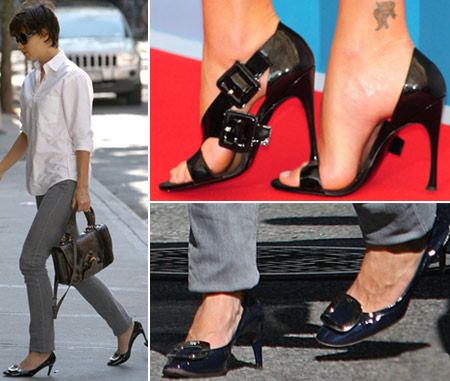 Katie Holmes Roger Vivier Shoes Vs Charlize Theron Roger Vivier sandals