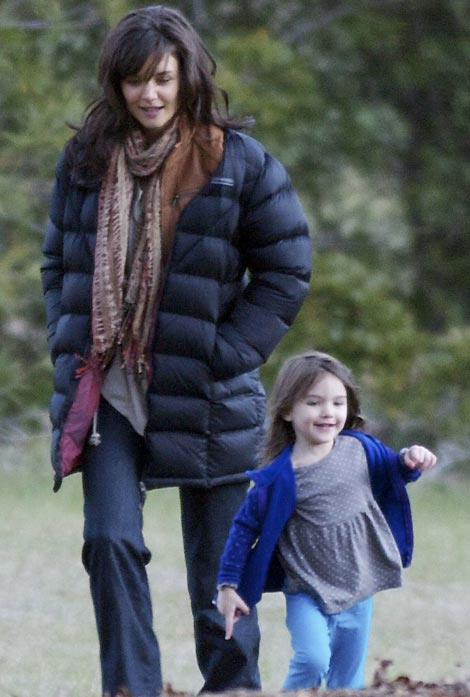 Katie Holmes With Long Hair, Suri Cruise With Pants