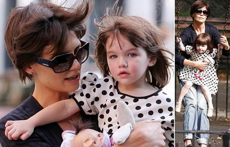 Boyfriend Jeans Match Chanel Shades At Playground With Suri