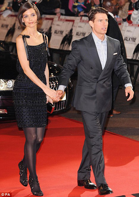 Katie Holmes Tom Cruise Escada dress Valkyrie premiere London