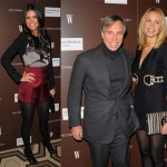 Katie Lee Joel, Tommy Hilfiger and Dee Oclepo at Marc Jacobs and Louis Vuitton screening