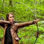 Katniss Everdeen with her bow