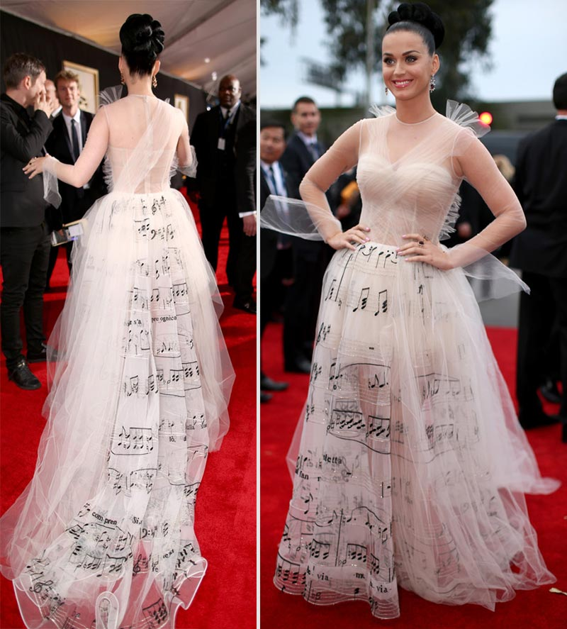 Katy Perry dress 2014 Grammy Awards
