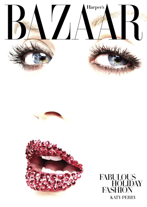 Katy Perry Harper s Bazaar US December 2010 subs cover
