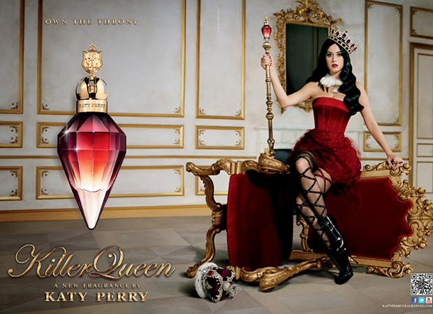Katy Perry Killer Queen perfume ad campaign