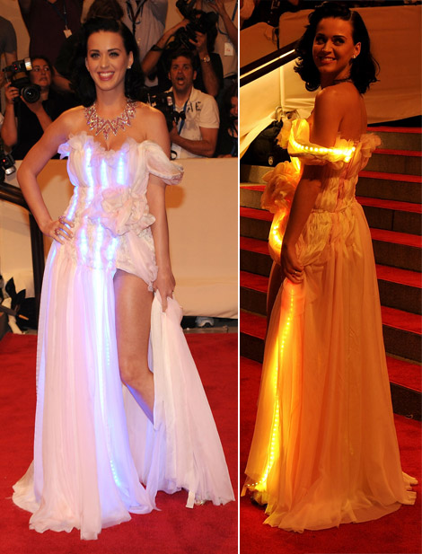Katy Perry Light bulbs dress Met Gala 2010