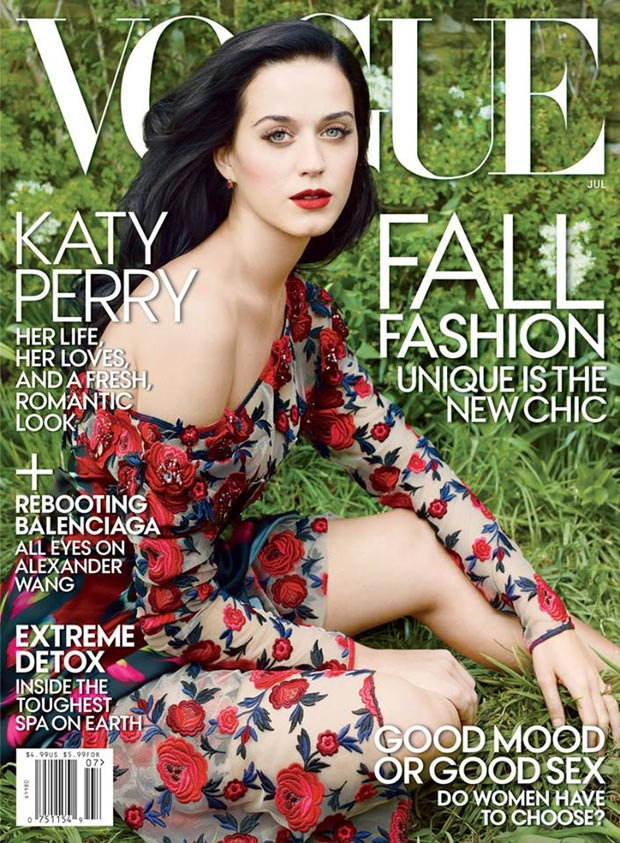 Katy Perry romantic cover Vogue US July 2013