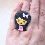 Kawaii floating rings SouZou Creations girl head