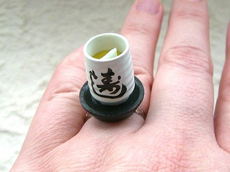 Kawaii floating rings SouZou Creations green tea