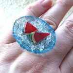 Kawaii floating rings SouZou Creations melon
