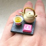 Kawaii floating rings SouZou Creations tea