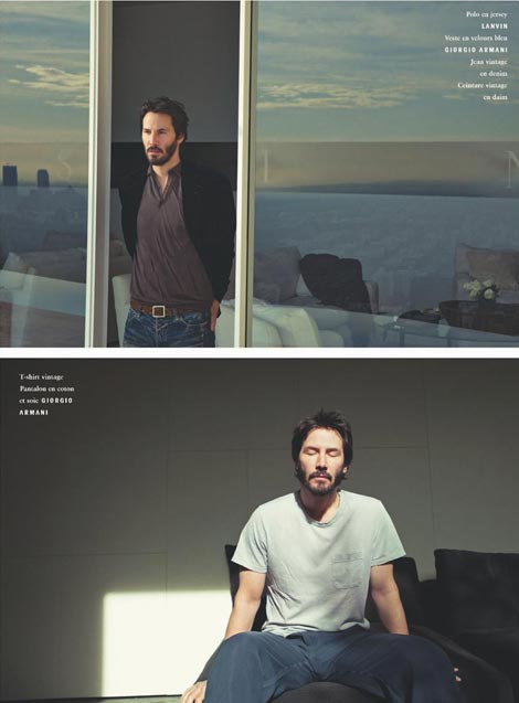 Keanu Reeves Vogue 2009