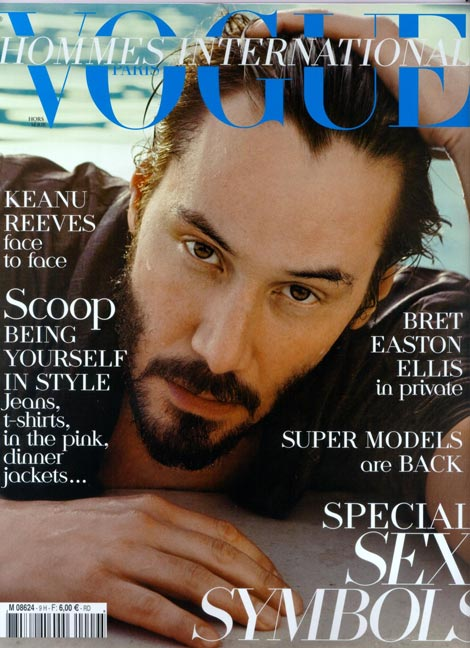 Keanu Reeves Vogue Hommes 2009 cover
