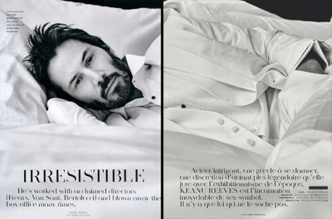 Keanu Reeves Vogue Hommes summer 2009