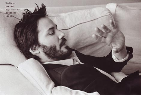 Keanu Reeves Vogue Spring Summer 2009