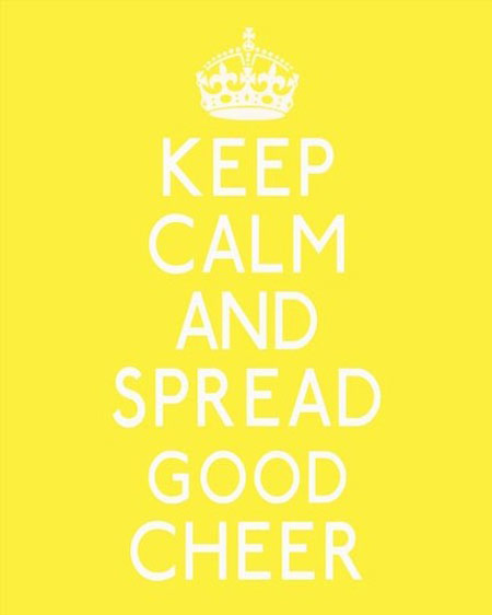keep calm yellow poster