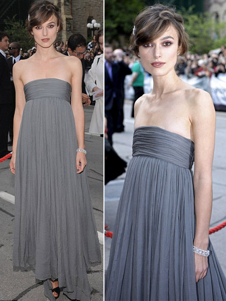 Keira Knightley Marc Jacobs Grey Dress Toronto Duchess Premiere