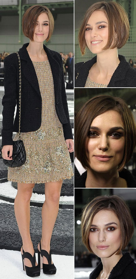 Keira Knightley new short bob haircut