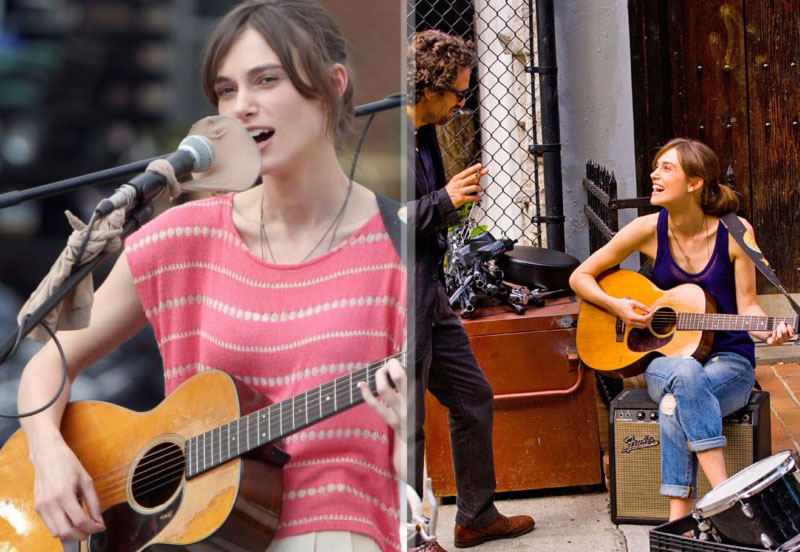 Keira Knightley sings for Begin Again