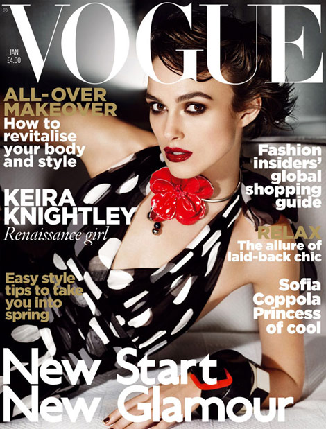 Keira Knightley Vogue UK January 2011 cover