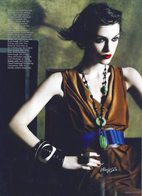 Keira Knightley&#8217;s Vogue UK January 2011