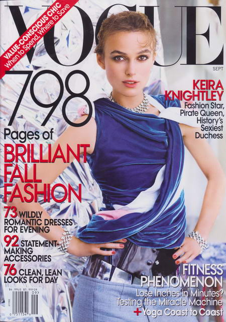 Keira Knightley Vogue US Cover September 2008
