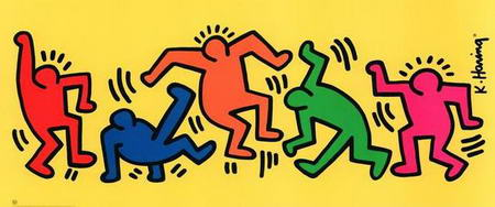 Keith Haring's colored Characters