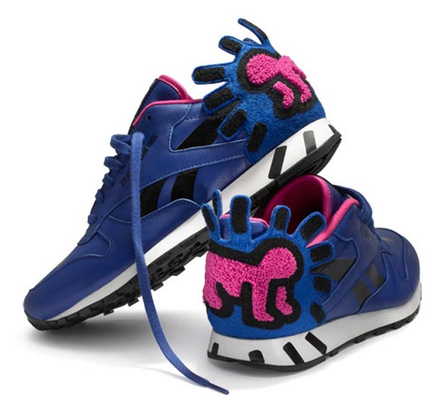 Keith Haring crying baby Reebok sneakers