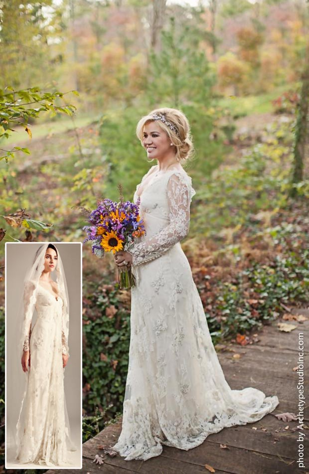 Kelly Clarkson wedding dress Temperley London