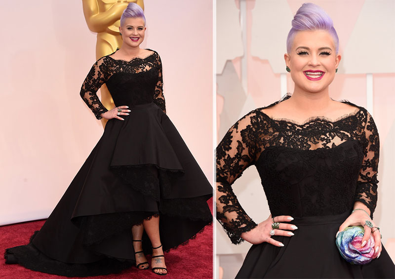 Kelly Osbourne black dress Rita Vinieris Oscars 2015
