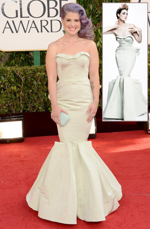 Kelly Osbourne Zac Posen mermaid dress 2013 Golden Globes
