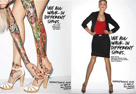 Kenneth Cole We all walk in different shoes Ad Campaign