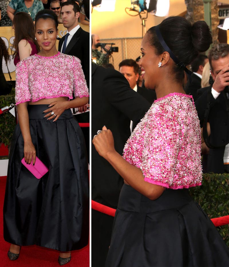 Kerry Washington Prada top skirt 2014 SAG Awards