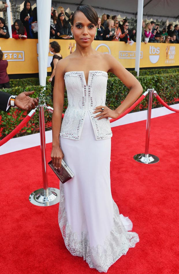 Kerry Washington Rodarte white dress 2013 SAG Awards