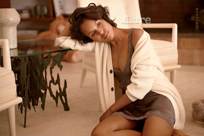 Kerry Washington without makeup Allure magazine