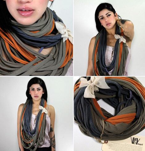Khaki Orange necklace v y