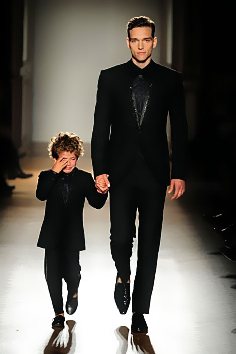 kid on the catwalk