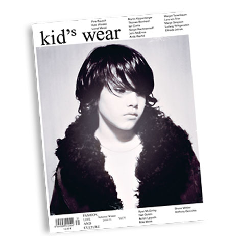 Kids wear magazine fall 2010 cover