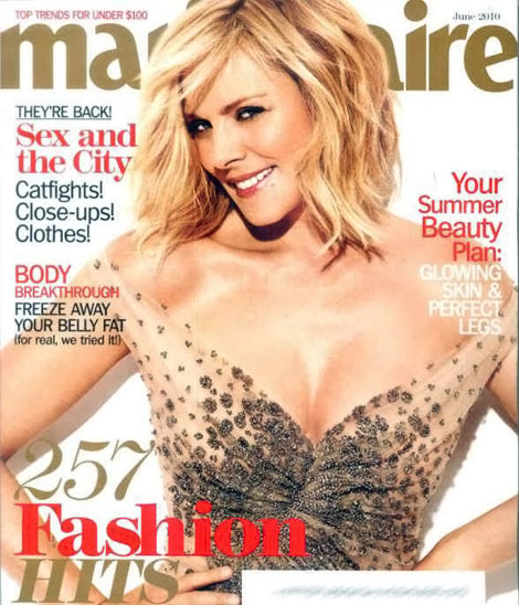 Kim Cattrall Marie Claire June 2010 cover