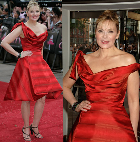 Kim Cattrall In Vivienne Westwood At Sex And The City The Movie London Premiere