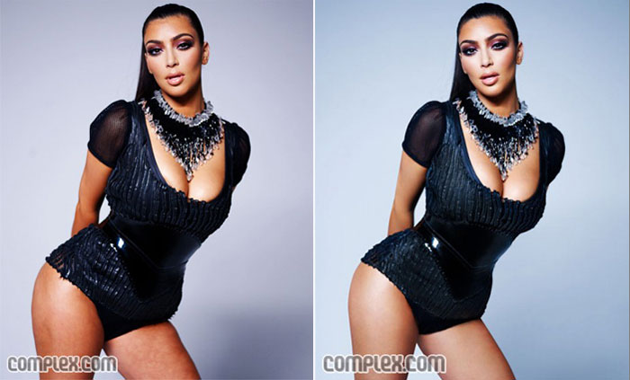 The Complex Photoshopping Of Kim Kardashian For The April-May Issue