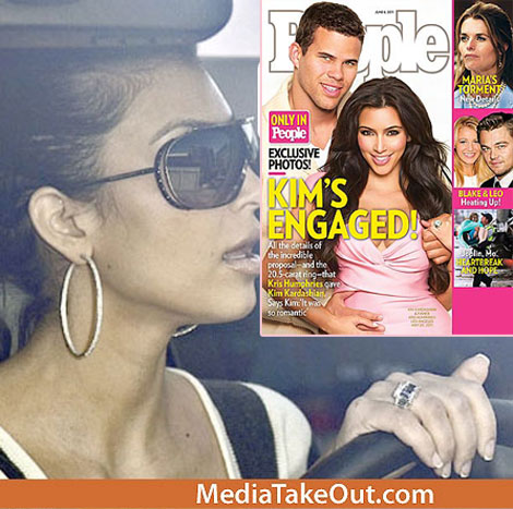 Kim Kardashian Fake engagement diamond ring