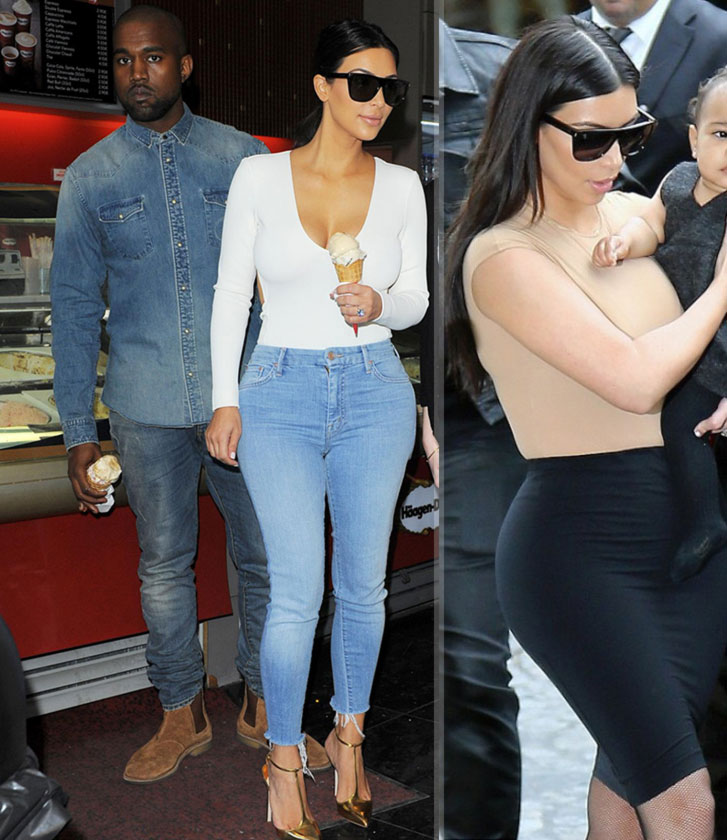 Kim Kardashian form fitting outfit Paris