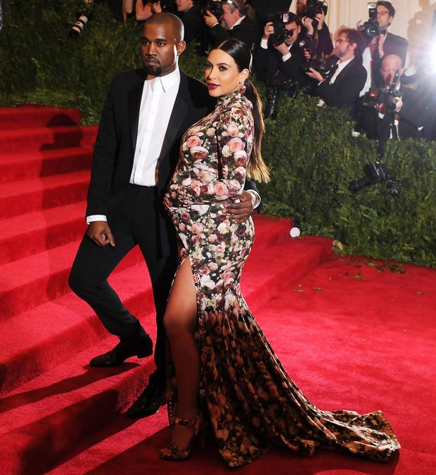 Kim Kardashian Kanye West Met Gala 2013 Red Carpet