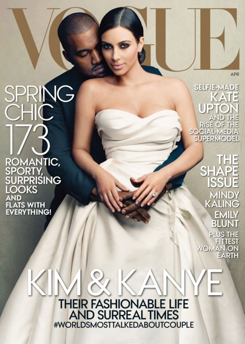 Kim Kardashian Kanye West Vogue April 2014 cover